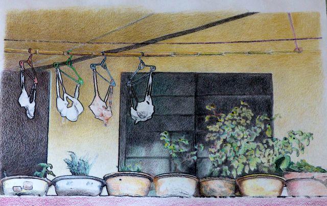 Washing line, Yangshuo